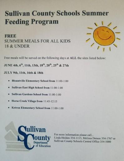 Sullivan Co 2019 Summer Feeding